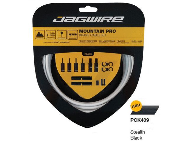 Jagwire Mountain Pro Brake Cable Kit stealth black